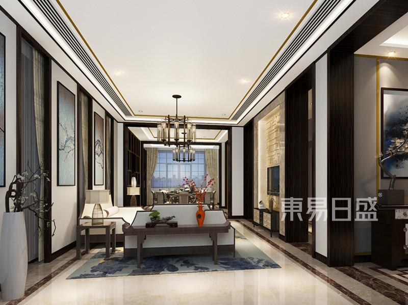 首页 室内装修效果图 > 海棠花园排屋-新中式-客厅