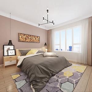 北欧装修风格卧室效果图