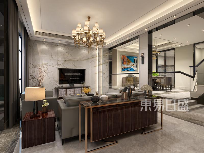 现代轻奢客厅装修效果图效果图 装修效果图大全2018图片 1124102 东