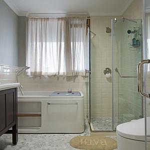 硅谷别墅-美式小美-卫生间装修效果图