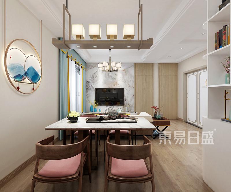新中式风格三室二厅餐厅装修