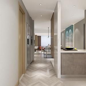 二居室-现代简约-入户门厅-效果图
