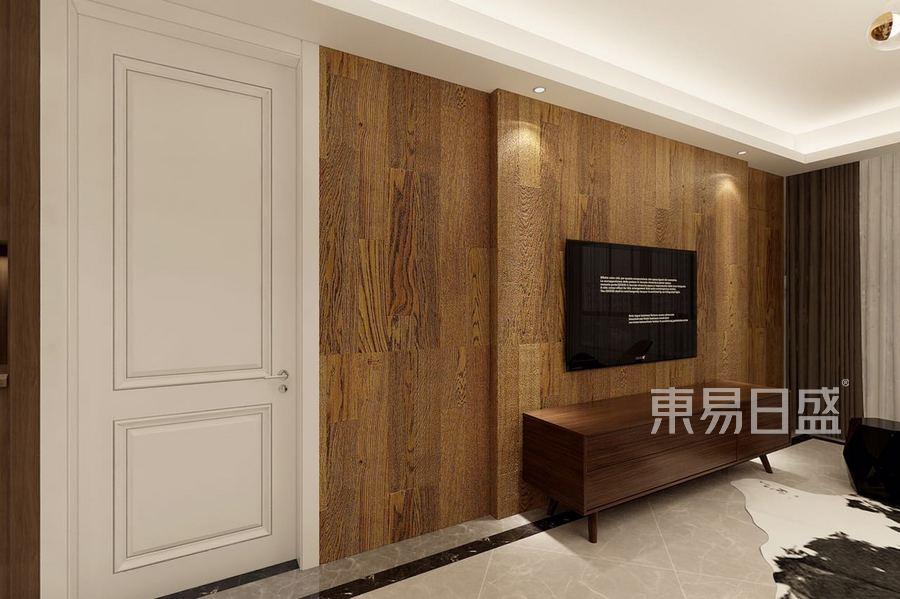 紫金府现代简约风格电视背景墙效果图