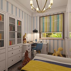 海宁湾现代美式风格儿童房装修效果图