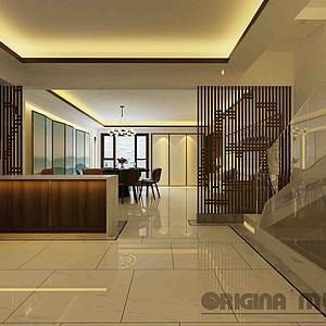 东原湖山樾+370平米别墅效果图+新中式风格