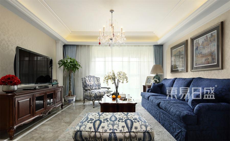 复地御钟山180㎡美式风格客厅