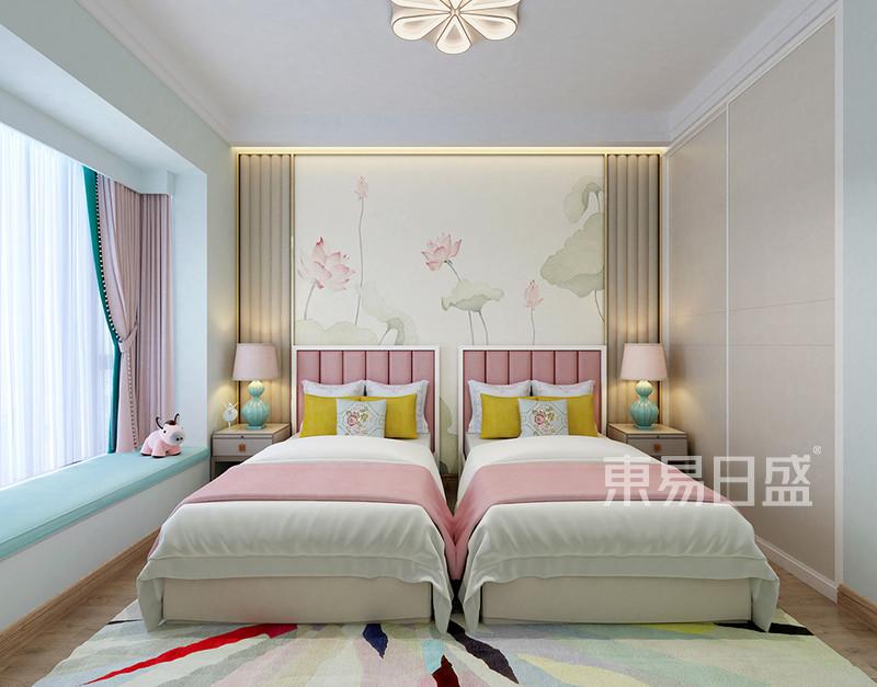 新中式卧室床头背景墙