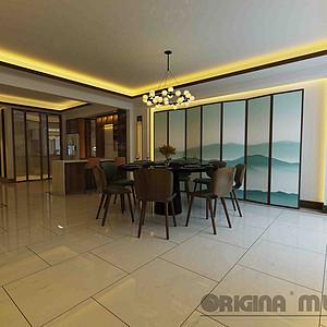 重庆东原湖山樾+新中式+餐厅