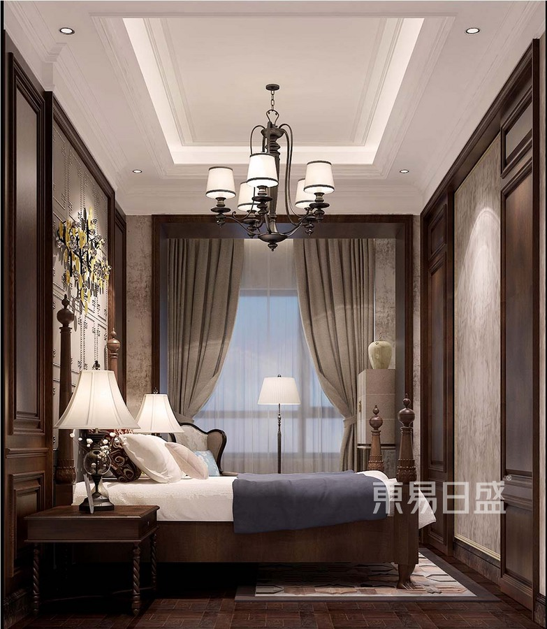 美式新古典风格卧室装修设计