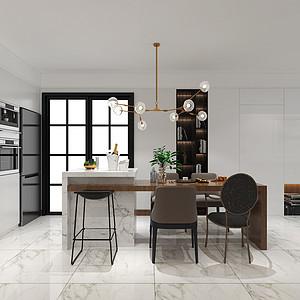 恒大御景半岛135平三室二厅现代简约风格装修案例