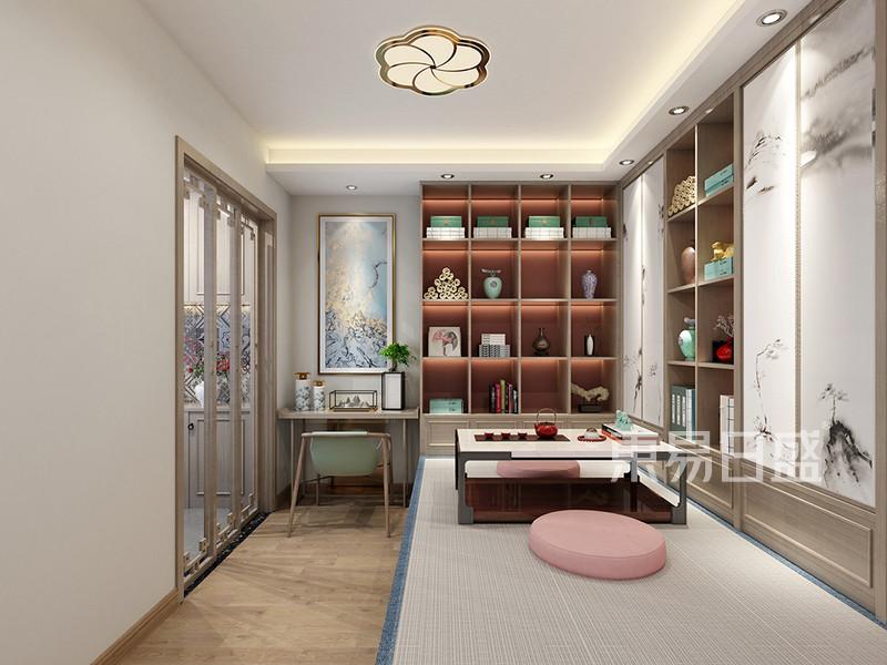 新中式风格三室二厅书房装修