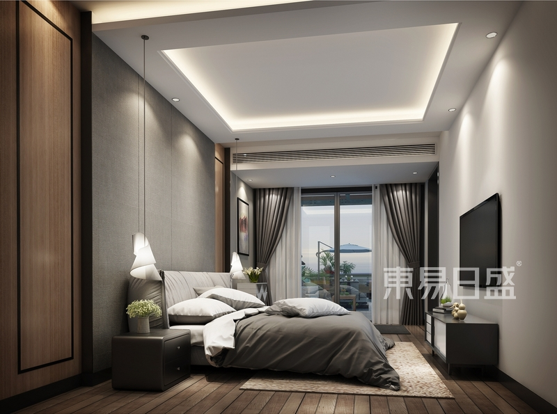 卧室效果图-现代前卫