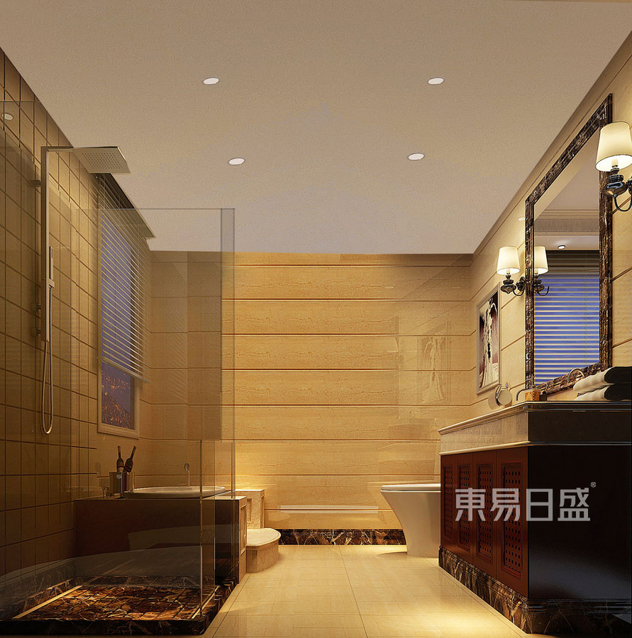 简欧-玄关-平层公寓装修效果图