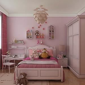 时尚简约风格-儿童房-装修效果图