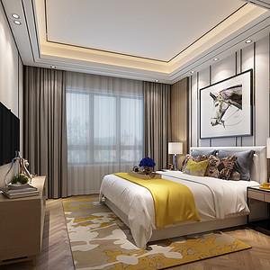 安吉玫瑰园新中式卧室