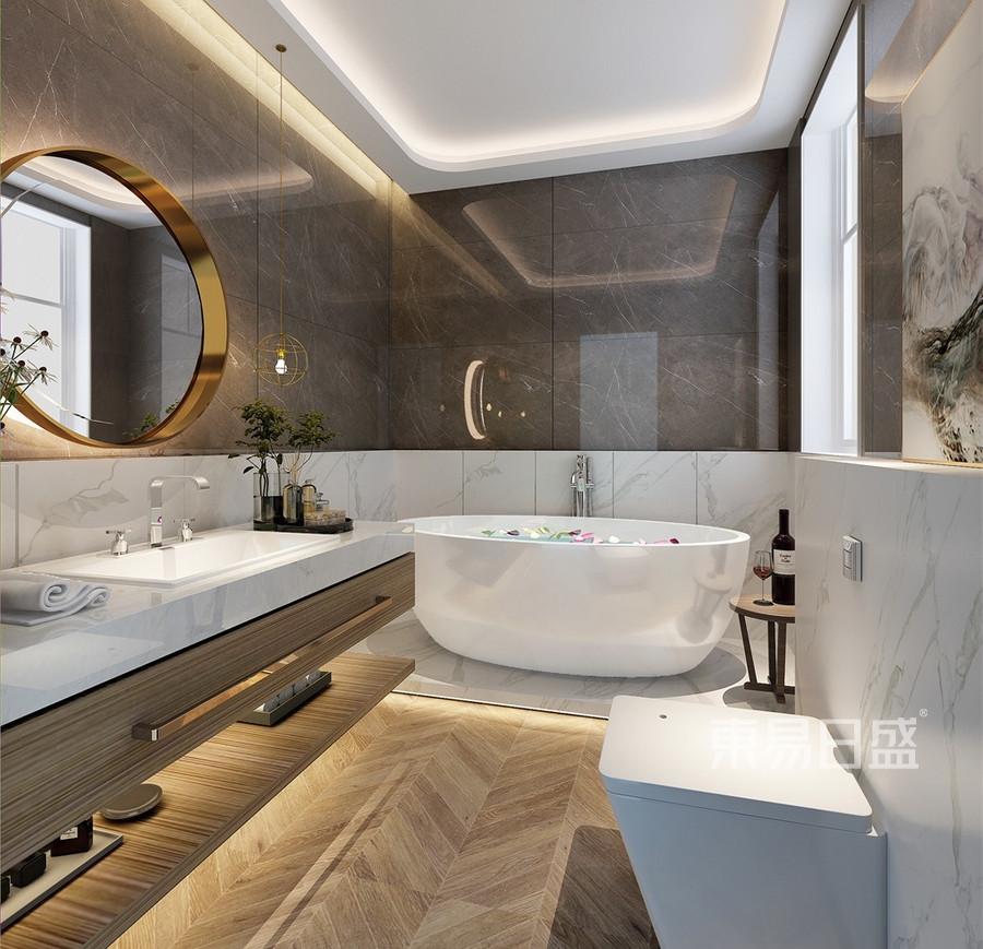 四居室-现代中式-卫生间-效果图效果图_2019装修案例