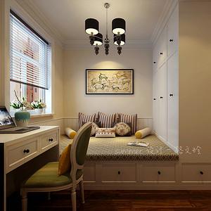 新中式风格-次卧-装修效果图