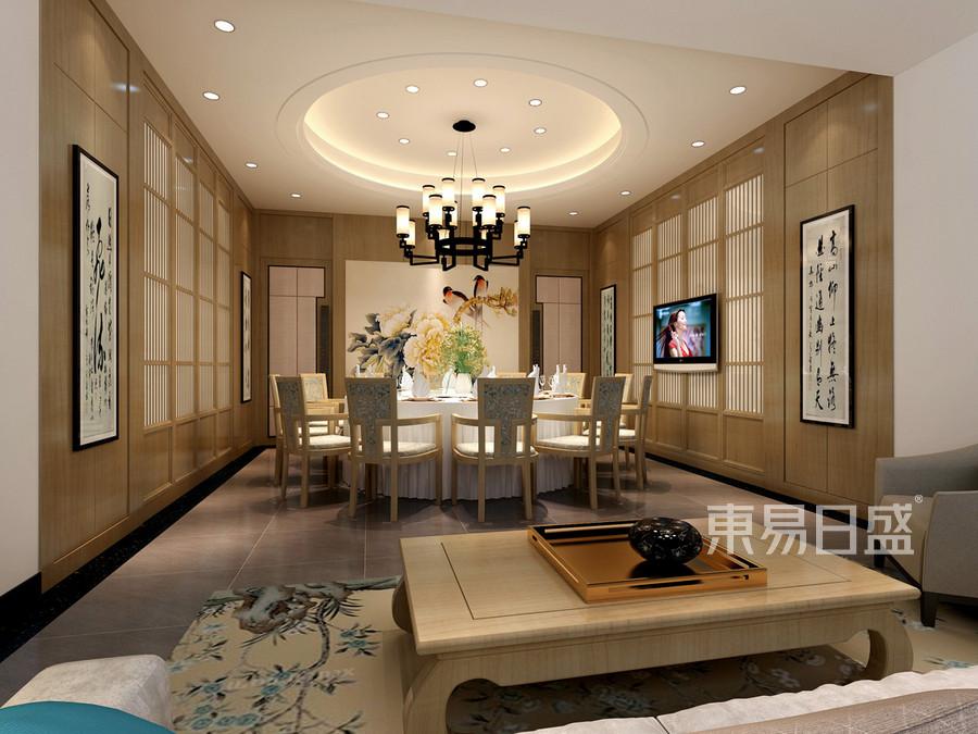 新中式会所餐厅装修效果图