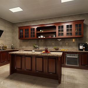 中式-地下室厨房