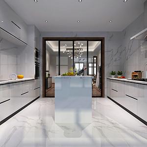 厨房空间开敞、内外通透,使居室充满惬