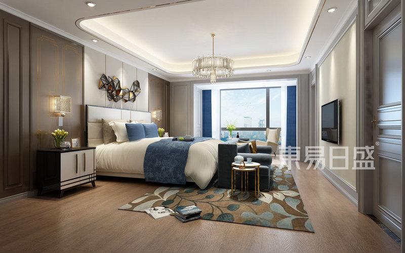 华侨城现代轻奢风格卧室装修效果图效果图_装北京博园园设计理念图片