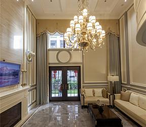 紫金华府376平新古典设计装修效果图-客厅