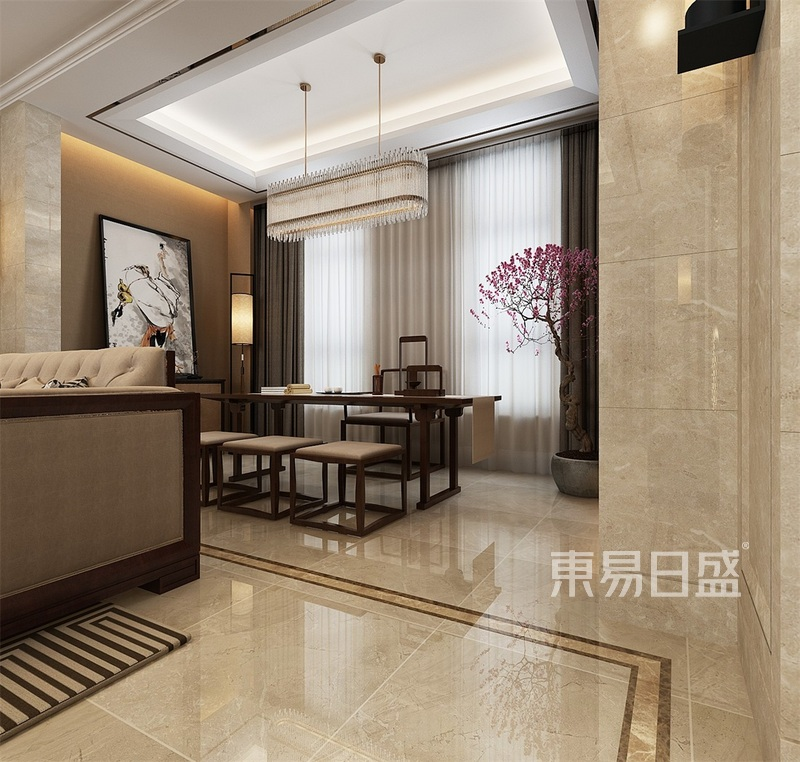 中式-一层阳台