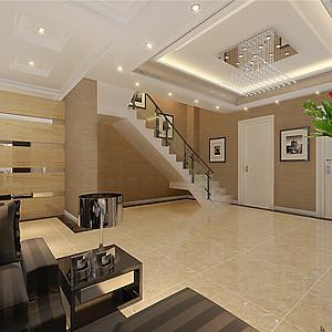 红星国际现代风格客厅装修效果图