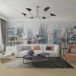 银海泊岸  132平米四居室现代简约风格案列