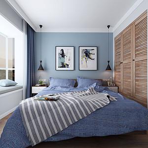 光明城北欧风格卧室装修案例效果图