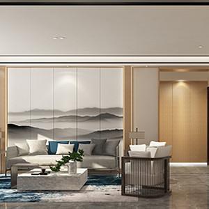 南湖艺境 新中式装修效果图 三室两厅 140㎡
