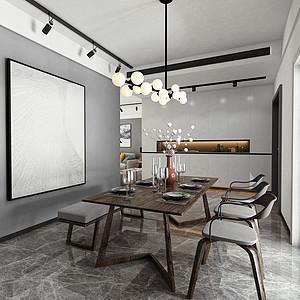 餐厅有质感,还增加了投影仪的互动性