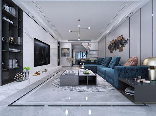 厚街海逸豪庭尚都装修案例-177㎡现代轻奢叠加别墅装修效果图