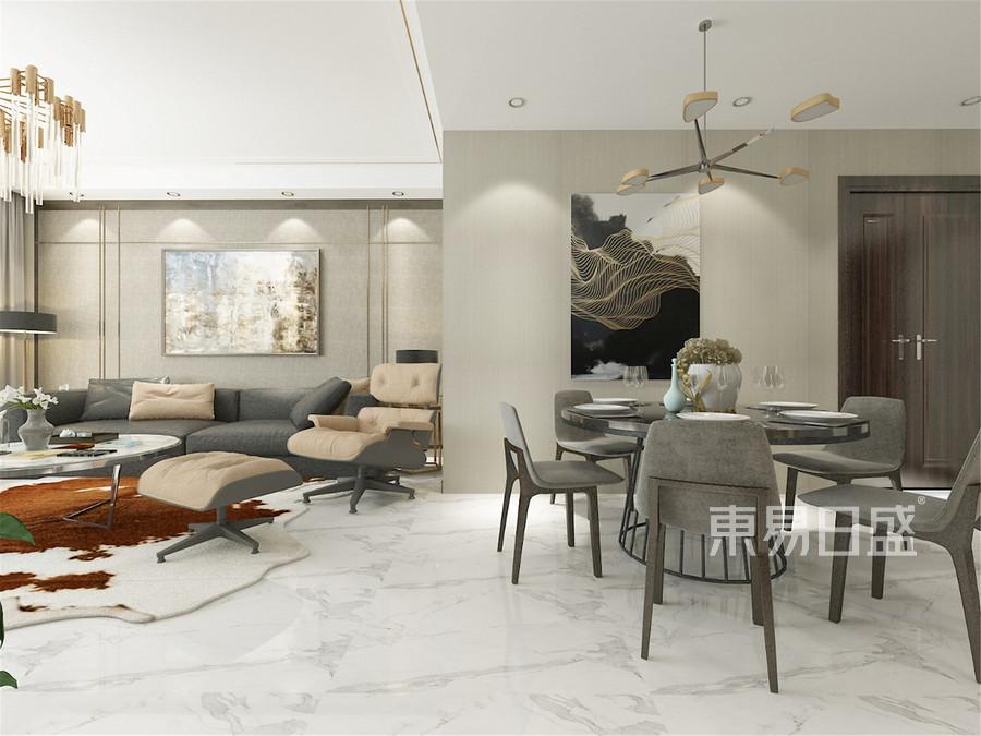 160平新雅居三室現代風格餐廳裝修效果圖