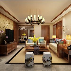 观澜国际新中式风格120㎡设计