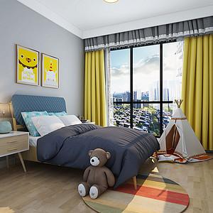 119㎡三居室北欧风格儿童房效果图