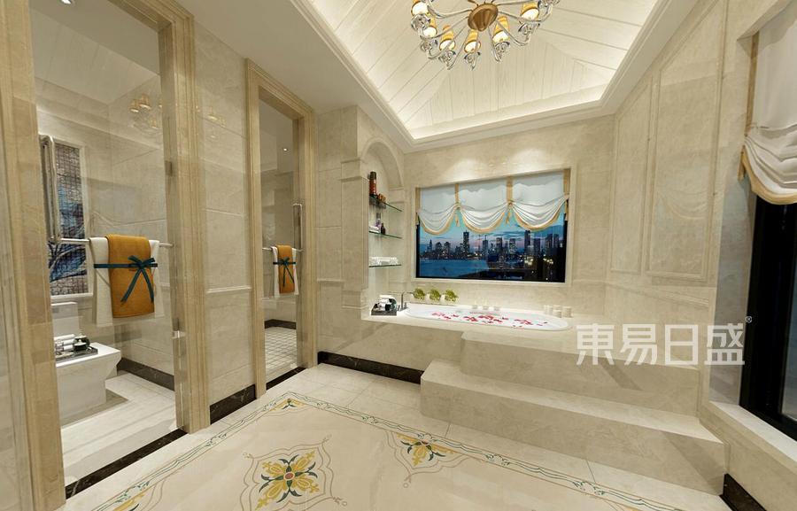 中式风格二楼卫生间装修效果图