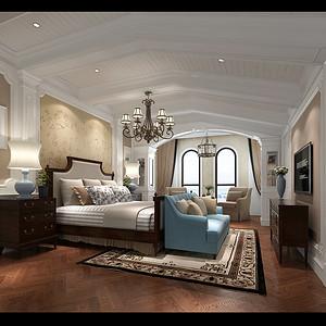 龙湖别墅 北欧风格 卧室