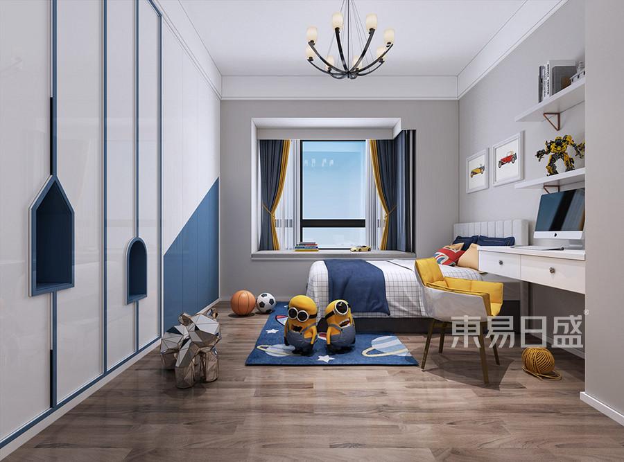 叠加别墅-厚街海逸豪庭尚都-现代简约男孩房-装修效果