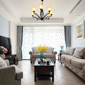 玉兰西花园 美式风格 客厅