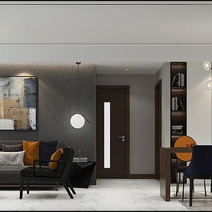 恒大御景半岛130㎡三室二厅现代风格装修案例
