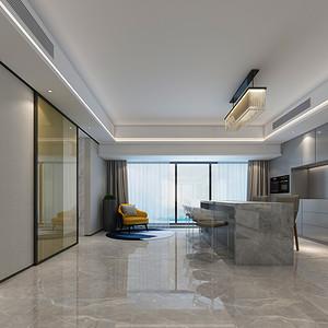 香山美墅 现代欧式风格 客厅装修效果