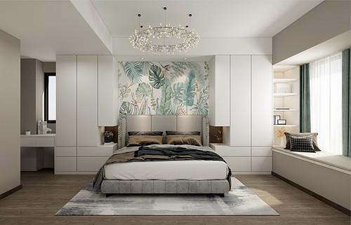 佛山融创望江府3室2厅95㎡北欧风格装修案例