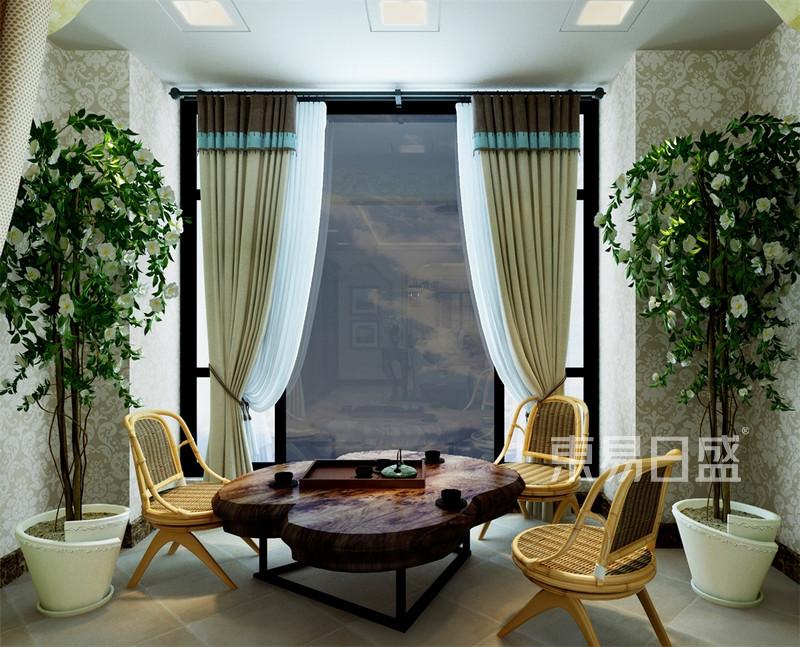 美式-客厅阳台