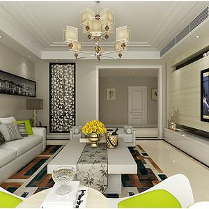 华纳豪园现代风格客厅装修效果图