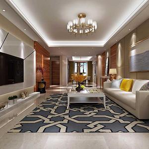 首创漫香郡  现代风格装修效果图 三室二厅二卫 140平米