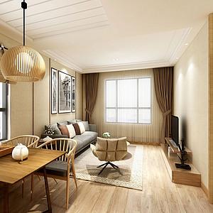 绿地世纪城70㎡两居室简约日式风格