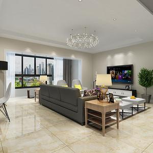 紫御润园现代简约风格客厅装修效果图