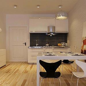 法式公寓-现代简约-厨房装修效果图