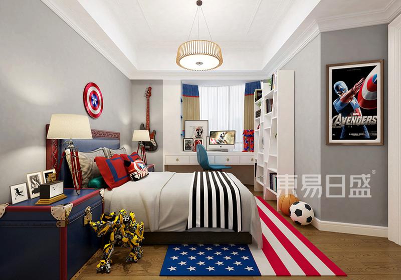 现代美式儿童卧室装修效果图